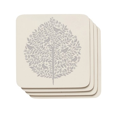 Now Designs Elmwood Cork-backed Coasters