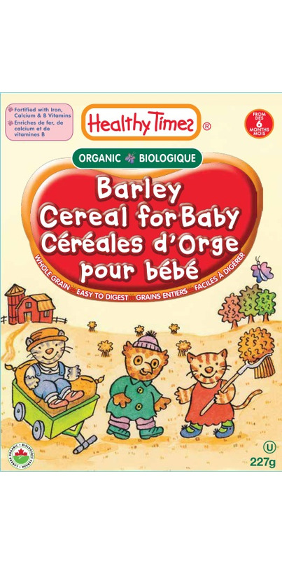 Buy Healthy Times Organic Barley Cereal For Baby At Well