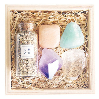 Little Box of Rocks Crystal Collection Wildflower