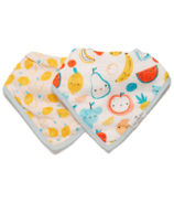 Loulou Lollipop Muslin Bandana Bib Set Cutie Fruits