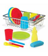Melissa & Doug Let's Play House! Wash & Dry Dish Set