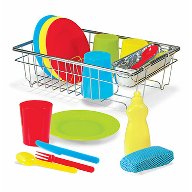 Melissa & Doug Let\'s Play House! Wash & Dry Dish Set