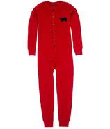 Little Blue House Kids Union Suit - Red Bear Bum