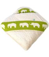 Oko Creations Organic Hooded Baby Bath Towel Elephant