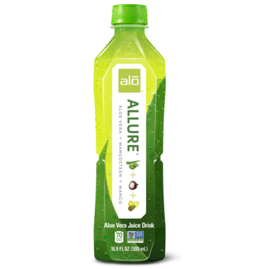 Alo Allure Aloe Vera Juice + Mangosteen + Mango Drink