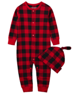 Little Blue House Infant Coverall & Hat Buffalo Plaid