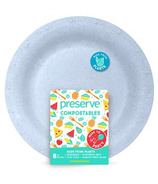 Preserve Compostables Large Plates Blue
