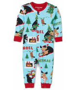 Hatley Little Blue House Baby Union Suit Wild About Christmas