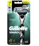 Gillette Mach3 Men's Razor Handle & 3 Blade Refills