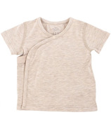 Nest Designs Basics Bamboo Cotton Kimono Short Sleeve T-Shirt Warm Taupe