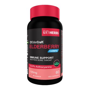 88Herbs Elderberry Premium Eldercraft 14% Anthocyanins