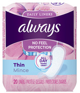 Always Thin Daily Liners Regular Unscented Wrapped
