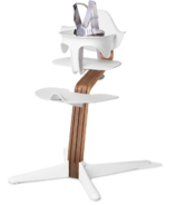 Nomi Highchair White Walnut