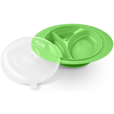 Thinkbaby Thinksaucer Suction Plate Green