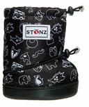 Stonz Black & White Stonz Print Toddler Booties
