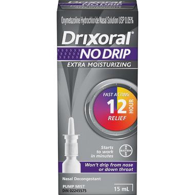 Drixoral NO DRIP Extra Moisturizing Nasal Decongestant