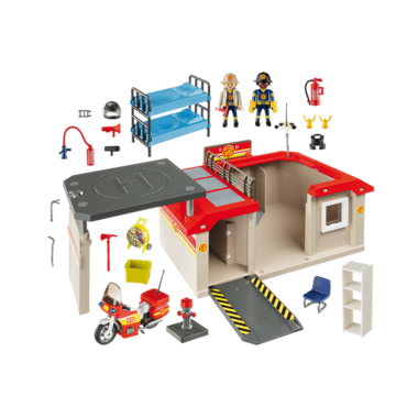 Playmobil Take Along Fire Station