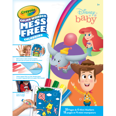 Crayola Color Wonder Mess-Free Colouring Pages & Mini Markers Disney Baby