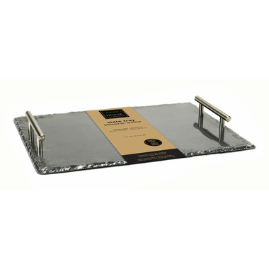 Harman Natural Slate Rectangle Tray with Handles
