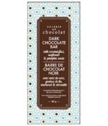 Galerie au Chocolat Barre de chocolat noir aux graines de citrouille