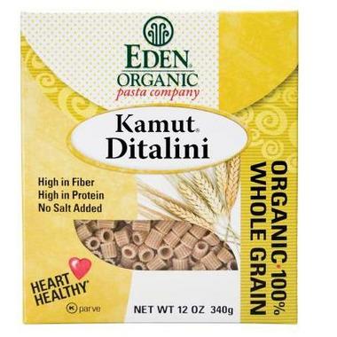 Eden Organic 100% Whole Grain Kamut Ditalini Pasta