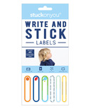 Stuck on You Write on Labels Stick on Blue