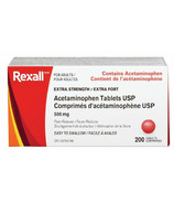 Rexall Acetaminophen 500mg Easy Swalllow