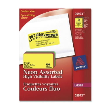 Avery Assorted Neon Laser Labels