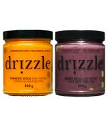 Drizzle Turmeric Gold Raw Honey & Berry Bliss Raw Honey Bundle