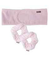 kitsch Blush Microfibre Scrunchie and Headband Bundle