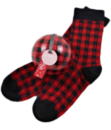 Little Blue House Women's Socks in Ornament Buffalo Plaid