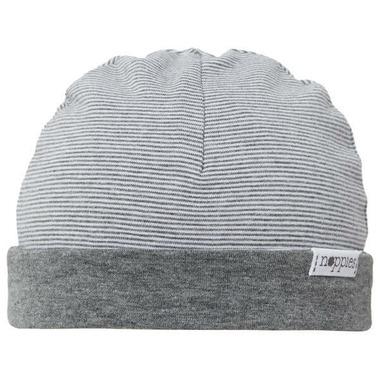 Noppies Organic Cotton Hat Erin Stripe Charcoal
