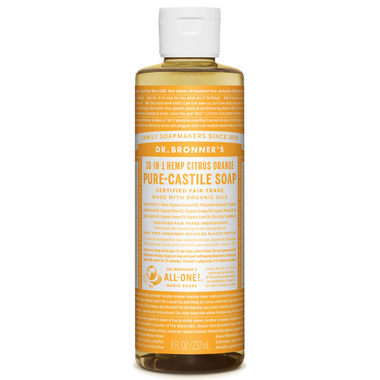Dr. Bronner\'s Organic Pure Castile Liquid Soap Citrus Orange 8 Oz