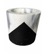 Wax + Fire Co. Soy Candle in Marble with Black Concrete Planter
