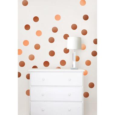 WallPops Metallic Copper Confetti Dots