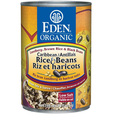 Eden Organic Canned Caribbean Rice & Black Beans