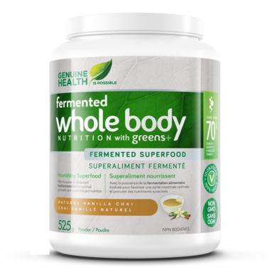 Genuine Health Fermented Whole Body NUTRITION with Greens+ Vanilla Chai