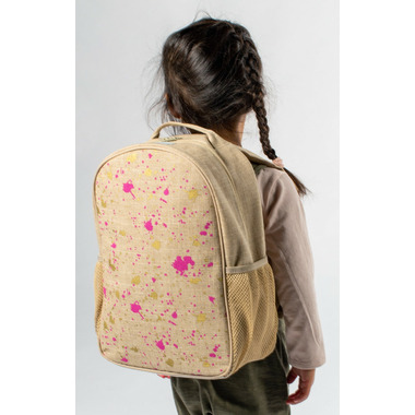 SoYoung Fuchsia and Gold Splatter Toddler Backpack
