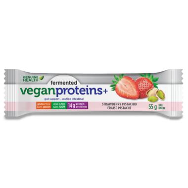 Genuine Health Fermented Vegan Proteins+ Bar Strawberry Pistachio