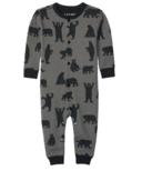 Hatley Charcoal Bears Baby Union Suit