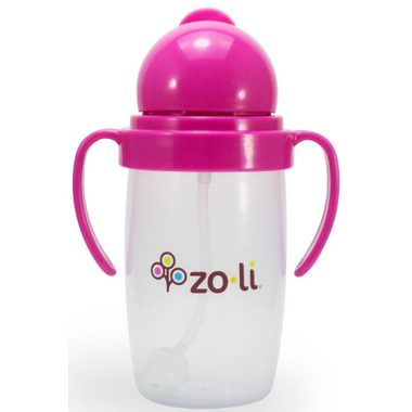 Zoli BOT 2.0 Straw Sippy Cup Pink