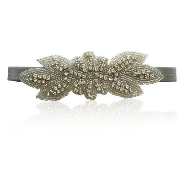 Olivia Rose Rhinestone Headband Silver