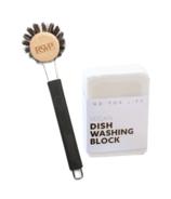 No Tox Life Dish Block Bar & Round Dish Brush Bundle