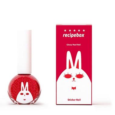 Recipebox Peel Off Nail Polish Glossy Pearl Red