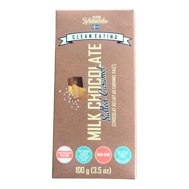 KZ Clean Eating Salted Caramel Milk Chocolate Bar