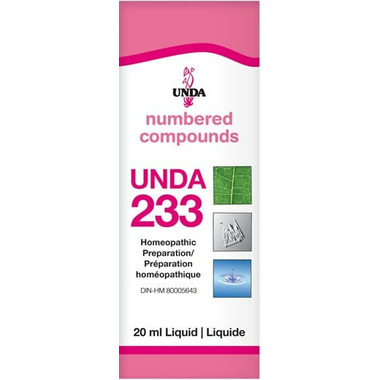 UNDA Numbered Compounds UNDA 233 Homeopathic Preparation