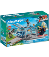 Playmobil Enemy Airboat with Raptors