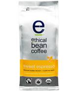 Ethical Bean Coffee Sweet Espresso Medium Dark Roast Whole Bean Coffee