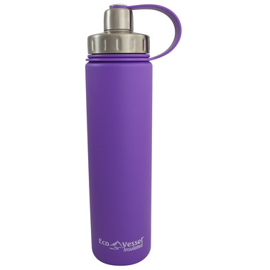 Eco Vessel Boulder Insulated Water Bottle in Purple