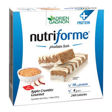 Adrien Gagnon Nutriforme Protein+ Bars Apple Crumble Gourmet